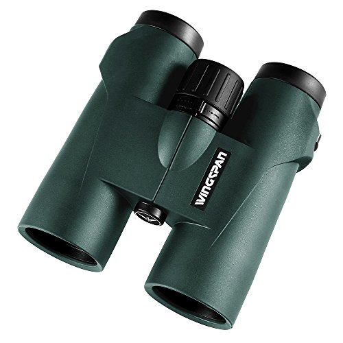 Feeder Green Roof (Wingspan Optics NatureSight HD 8X42 Bird Watching Binoculars. Extra-Wide Field of View for the Brightest, Clearest Detail. Close Focus for Closer Views. Phase Coated. Waterproof. Fog Proof.)