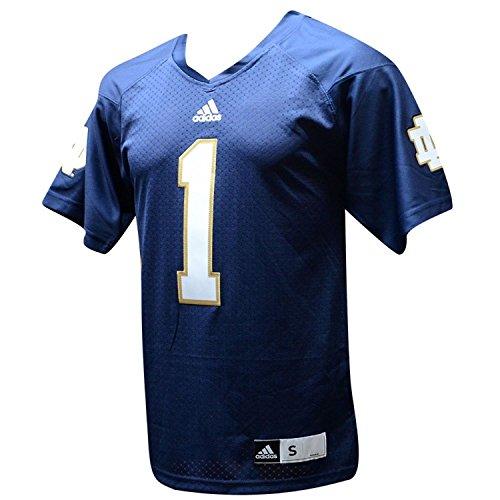 - Notre Dame Fighting Irish Adidas Navy #1 Premier Jersey (M)