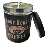 Our Own Candle Company French Vanilla Scented Candle in 13 Ounce Tin with a Hour House Coffee Label by Linda Spivey