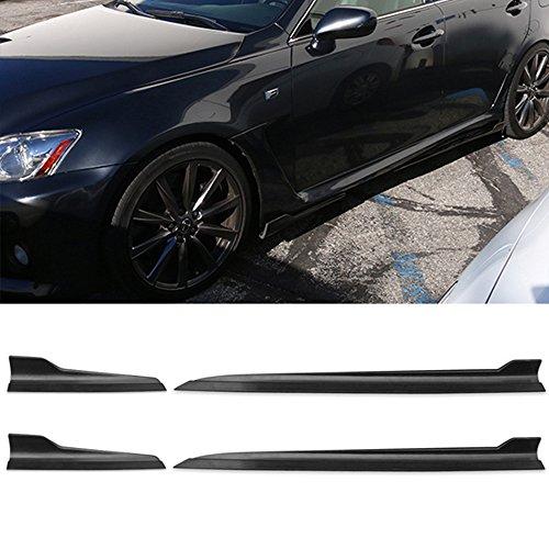(Side Skirts Fits Lexus ISF IS250 IS350 | IKON Style Black PP Sideskirt Rocker Moulding Air Dam Chin Diffuser Bumper Lip Splitter by IKON MOTORSPORTS)