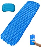 Sleeping Pad with Pillow Inflatable Sleeping Pad Air Mattress with Innovation Buckle Design