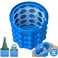 Marketworldcup New Revolutionary Space Saving Ice Cube Maker Silicone Bucket Kitchen Tool US
