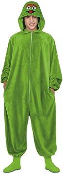 Barrio Sésamo Disfraz Pijama de Oscar el Gruñón para Adultos ...