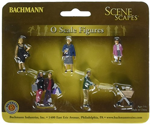 Bachmann Industries SceneScapes Strolling People Miniature Figures (5 Piece)