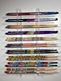 GBA Drumstick Display - Acrylic Collector Drumstick Rack - 10 Sets