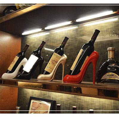 High Heels Red Wine Rack High Heel Shoe Wine Bottle Holder Resin Crafts for Creative Bar Restaurant Window Wine Cabinet Decoration Gifts Souvenirs,Black