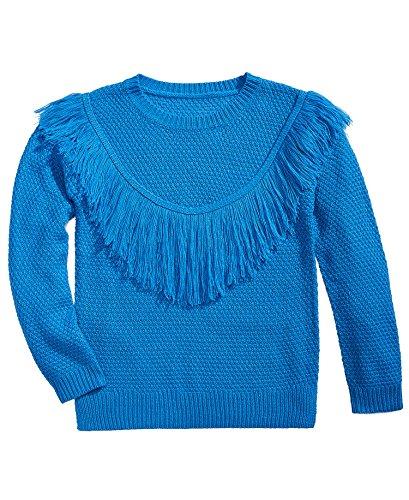 Pink Republic Big Girls (7-16) Fringe-Front Sweater Pom Pom Blue Large by Pink Republic