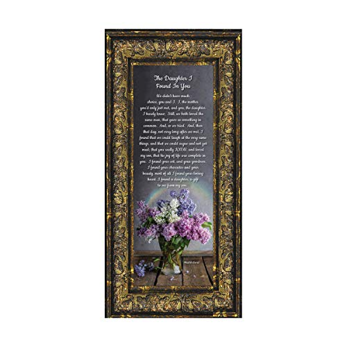 Frames of Mind The Daughter I Found in You, Daughter in Law Gifts, Poem for Future Daughter in Law, 6x12 7303R (Gifts For Future Mother In Law Wedding)