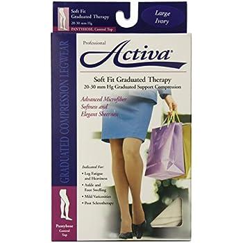 bb18abd650 Amazon.com: Activa Soft Fit 20-30 mmHg Panty Hose, Ivory, Large ...