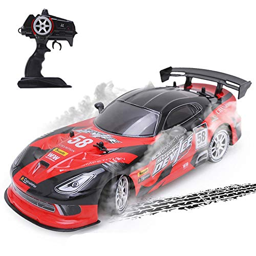 ElevenY RC Car for GTR/Dodge Viper 4WD Drift Racing Championship 2.4G Off Road Rockster Remote Control Vehicle Electronic Hobby Toys - Rechargeable Electric Race Buggy for Kids Adults Hobby Toys