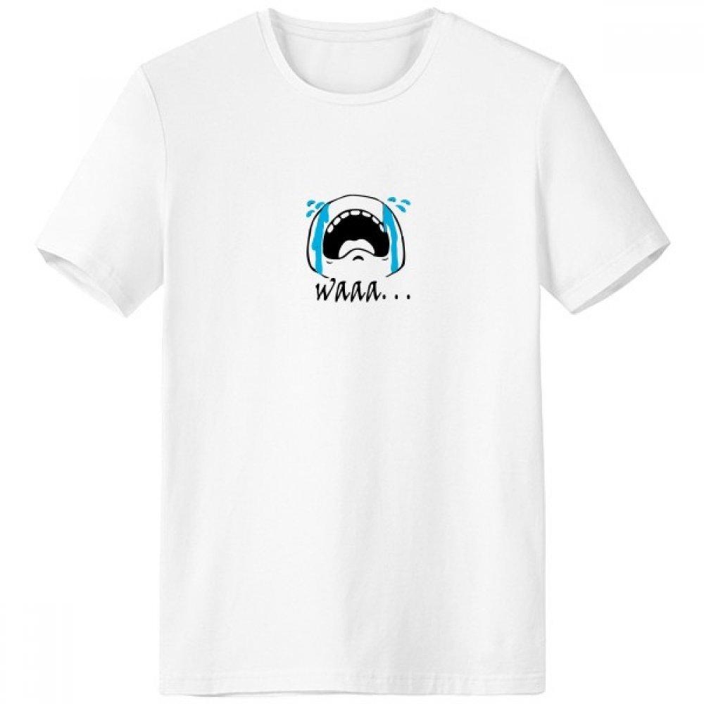 DIYthinker Wail Negro lindo patrón de Chat Emoji con cuello redondo de la camiseta blanca de manga corta Comfort Deportes camisetas de regalos - Multi - XL: Amazon.es: Ropa y accesorios