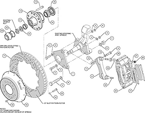 amazon new wilwood front disc brake kit 14 rotors black 1972 Chrysler Satellite 14 rotors black superlite 6 piston calipers pads 62 69 cdp b 70 72 cdp b e body cars with drum spindles chrysler dodge plymouth challenger