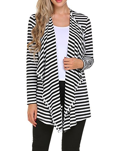 Black And White Striped Jacket - 7