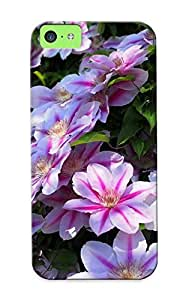 Fashion Protective Clematis Case Cover Design For Iphone 5c