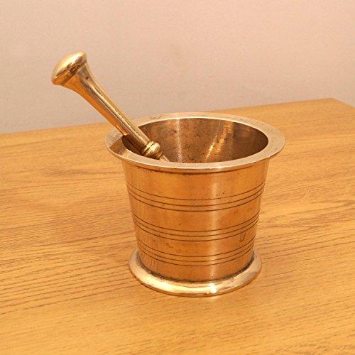 Restored by UKARETRO Vintage Brass Mortar and - Brass Mortar