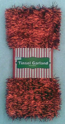 50 Feet of Red Tinsel Garland by Momentum Brands
