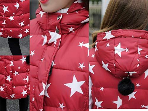 cerniera Rot Outwear Sleeveless Lunga Cappotti Donna Canottiera Caldo Invernali Tasche Stampate Casual Stella Weimilon Laterali Piumino Gilet Con wagCqx77T