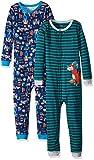 Carter's Boys' 2-Pack Cotton Footless Pajamas, Tools/Tiger, 2T