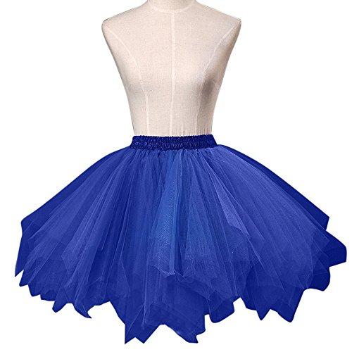 Soire Tulle pour Ballet Femme Fte lastique Jupe Court Tutu Dguisement Taille Bonboho Fille en Princesse Jupon Bleu STwqxx68