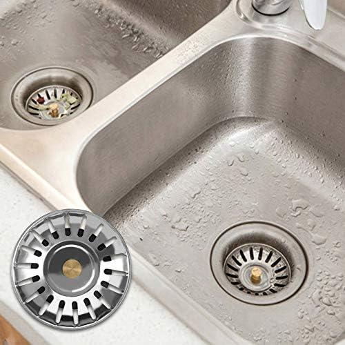 tap/ón de repuesto cesta de filtro para el hogar de acero inoxidable Tapones universales para fregaderos de cocina para fregadero escurreplatos