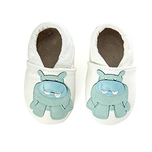 Peau En De Hippo Mouton Bébé Smilebaby Blanc Chaussons 7qwCxq