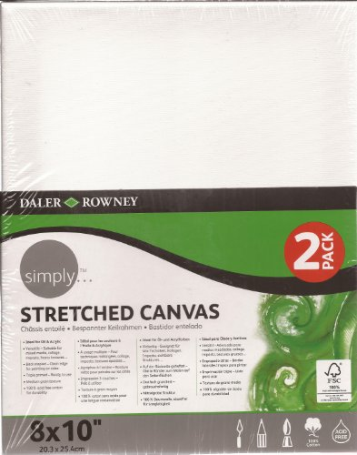 Brown Stretched Canvas (Daler-Rowney Simply... Stretched Canvas 8 x 10