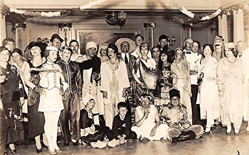 Costume Party Halloween Real Photo Vintage Postcard JE228811 -