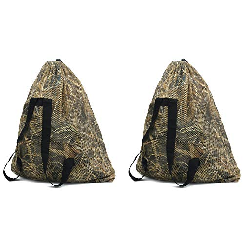 Goose Duck Decoy - Auscamotek Turkey Decoy Bags Mesh with Duck Blinds Printing-2 Pack Waterfowl Decoy Camouflage Backpacks - Medium Size