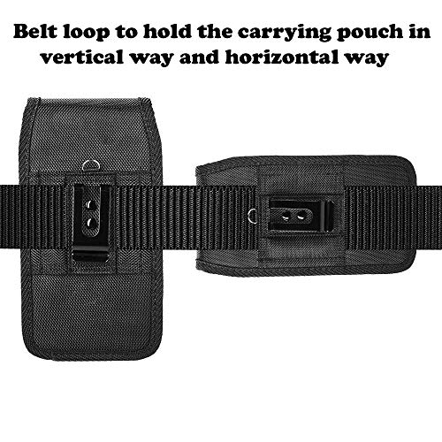 AIScell Metal Belt Clip Holster For Iphone 8 Plus, 7 Plus,6S/6 Plus ~Extra Large Ultra Rugged Pouch Nylon Canvas Case (Fit Phone With Lifeproof,Otterbox Defender,Battery Case,Thick Hybrid Cover) by AIScell (Image #7)