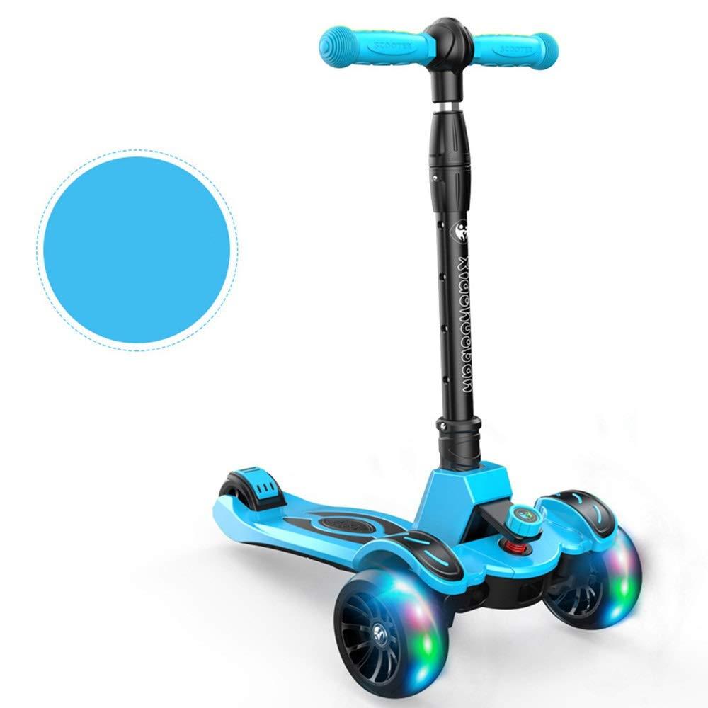 子供のスクーター315歳児ヨーヨー赤ちゃんのおもちゃフラッシュスケートペダル4速調節折りたたみスクーター ) ( Color B07PRH3S13 Color : Blue ) B07PRH3S13, 住之江区:fd62b0f1 --- cgt-tbc.fr