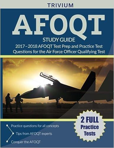 Amazon Afoqt Study Guide 2017 2018 Afoqt Test Prep And