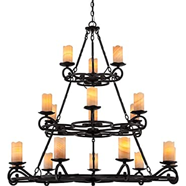 Quoizel AME5018IB Armelle 18-Light Foyer Piece, Imperial Bronze