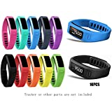 JOMOQ small Replacement Accessory Wrist Bands with Plastic Clasps for Garmin Vivofit 10pcs (No Tracker, Replacement Bands Only)