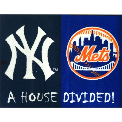 MLB House Divided - Yankees/Mets House Divided Mat/33.75
