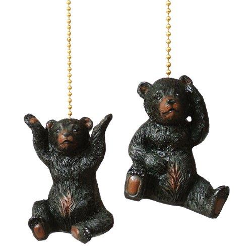 (BLACK FOREST DECOR Bear Cub Fan Pulls - Set of 2)