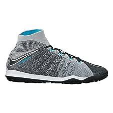 Nike Men's HyperVenomX Proximo II DF TF Turf Soccer Shoes (Wolf Grey)