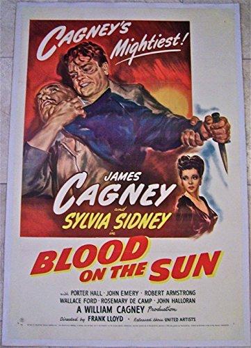 BLOOD ON THE SUN '45 LB 1 SH ~ JAMES CAGNEY WWII ANTI-JAPANESE CRIME - Sh Sun