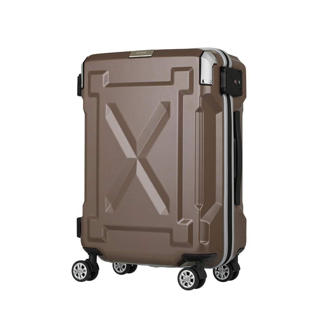 [アウトレット] スーツケース キャリーケース キャリーバッグ M サイズ 超軽量 PC100%素材 フレーム キャリーバック 旅行用かばん 中型 無料受託手荷物 158cm 以内 アウトドア『B-6304-61』 モカ   B07PM9F6XB