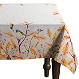 Maison d'Hermine Oak Leaves 100% Cotton Tablecloth 54 Inch by 72 Inch. Perfect for Thanksgiving and Christmas