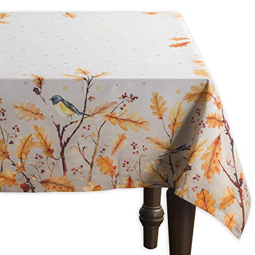 Maison d' Hermine Oak Leaves 100% Cotton Tablecloth 60 Inch by 108 Inch. Perfect for Thanksgiving and Christmas