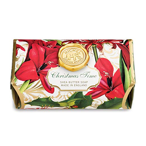 Michel Design Works Oversized Triple Milled Shea Butter Bath Soap Bar, Christmas Time