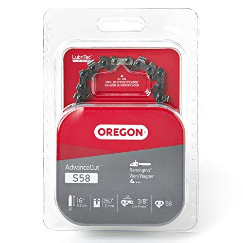 Oregon S58 AdvanceCut 16-Inch Semi Chisel Chainsaw Chain Fits Remington, - Semi Chisel Chain Oregon