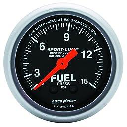 Auto Meter 3311 Sport-Comp Mechanical Fuel Pressure Gauge