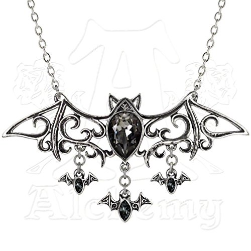 (Viennese Nights Bat Necklace by Alchemy Gothic)