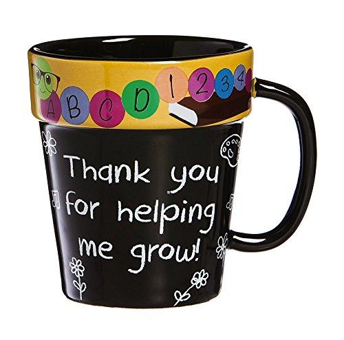 Teacher Terra Cotta Coffee (Thanks For Helping Me Grow)