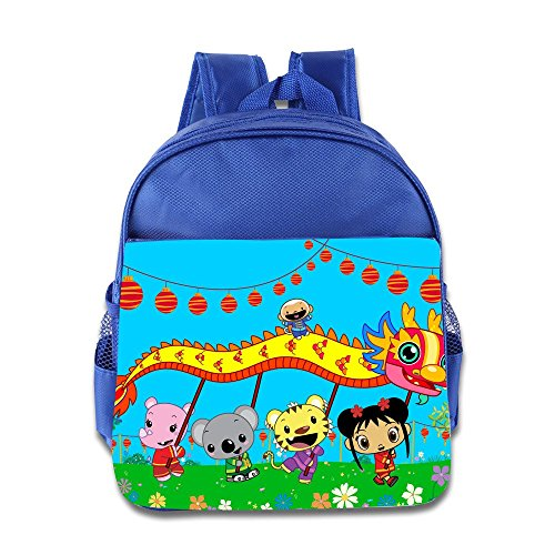 Kids Ni Hao,Kai-lan School Backpack Cartoon Baby Boys Girls School Bags RoyalBlue