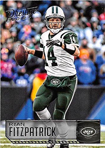 Ryan Fitzpatrick football card (New York Jets QB) 2016 Prestige #134