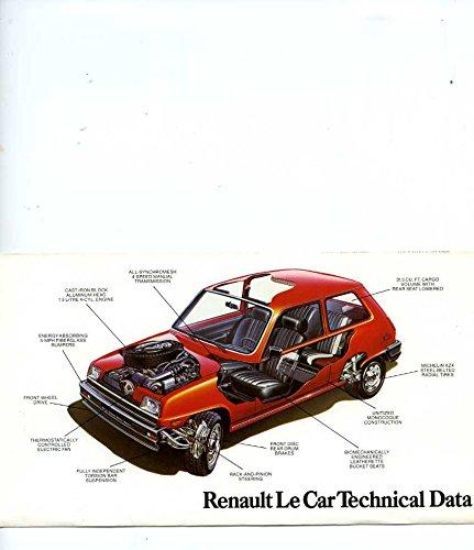Amazon.com: 1980 Renault 5 Le Car Small Brochure Canada: Entertainment Collectibles