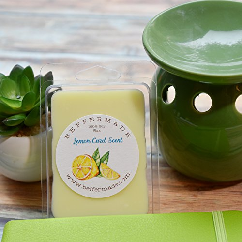 (Lemon Curd Scented soy wax melts - pack of 6 cubes)