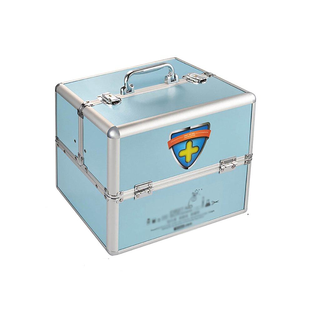+ メディスンボックスホームアルミ合金ロックダブルオープン薬箱多機能診断ボックス応急処置箱化粧品収納箱 : ## (色 : Pink, サイズ さいず Medium : + L l) B07KJ9PYCC 青 Medium Medium|青, スレバーアンダーウェア:511fa676 --- mail.tastykhabar.com